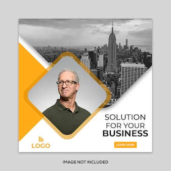 Corporate social banner template