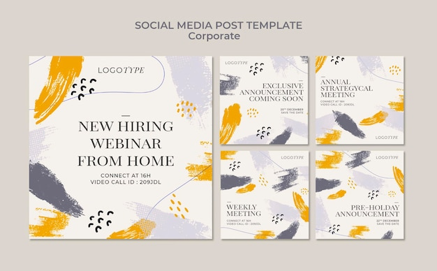 Corporate social media post template
