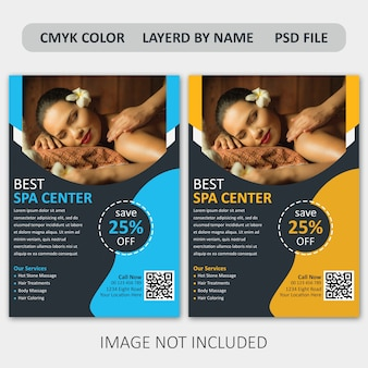Corporate spa flyer template