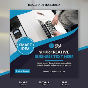 Corporate square banner for instagram post template