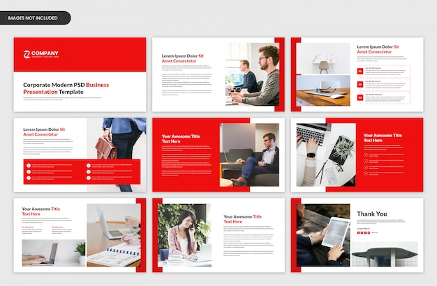 Corporate startup and business presentation slider template