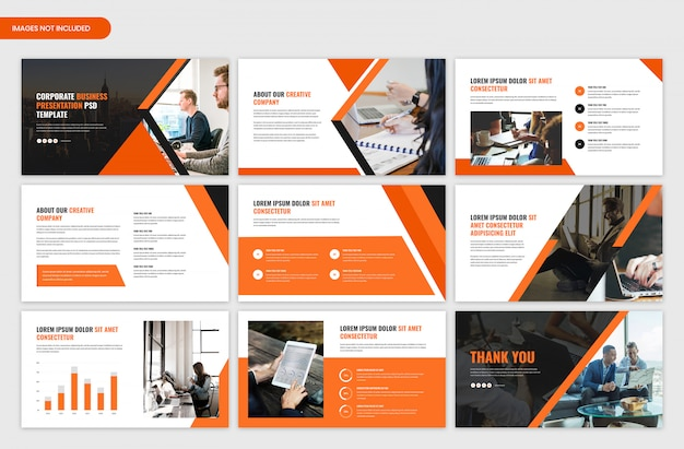 Corporate startup presentation template
