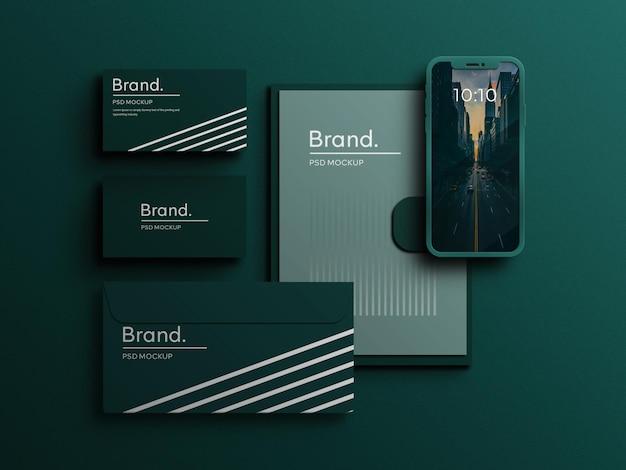 Corporate stationery brand identity mockup scene creator realistic corporate branding identity