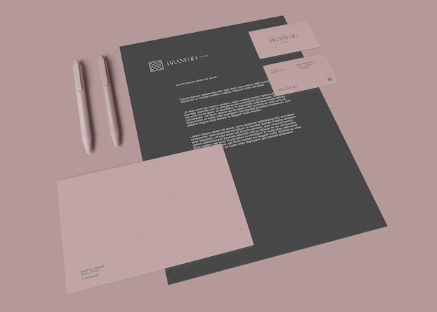 Corporate stationery set mockup