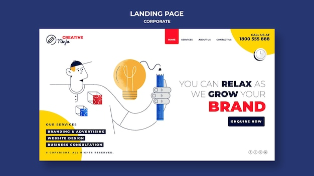 Corporate web template illustrated
