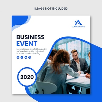Corporative instagram square banner by business event template