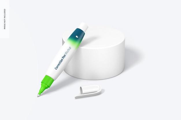 Макет корректирующей ручки, открыт