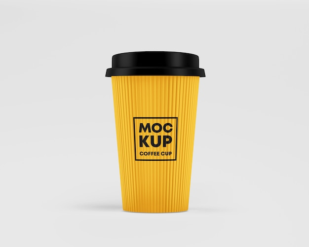Corrugated paper cup mockup