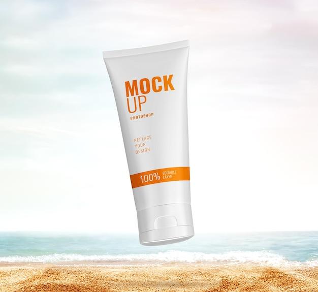 화장품 광고 여름 모형