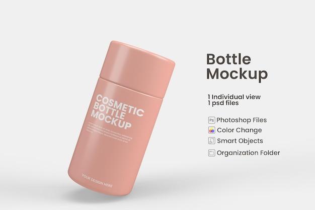 Макет косметической бутылки в концепции красоты