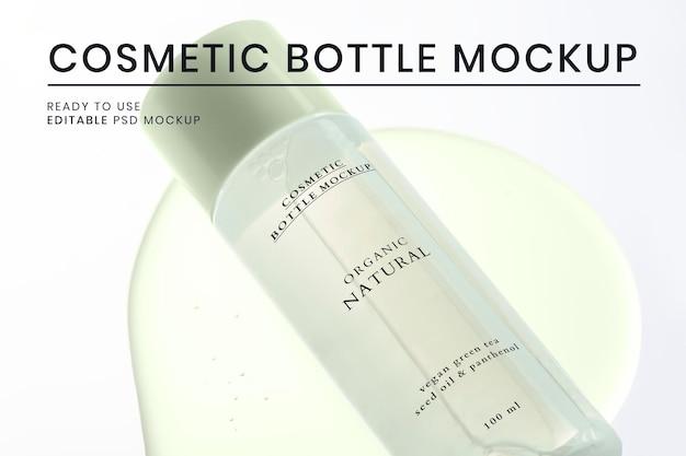 化粧品ボトルモックアップpsdすぐに使えるスキンケアパッケージ