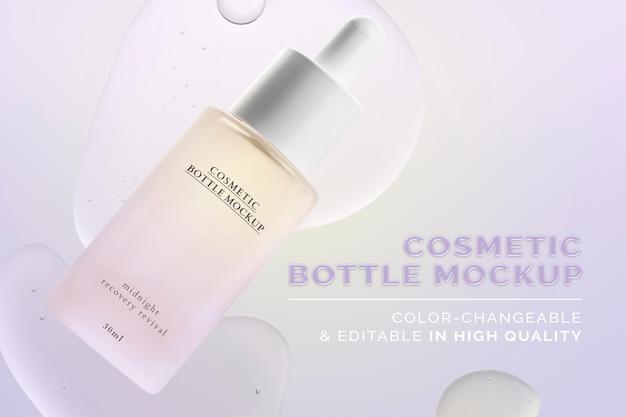 Modello di bottiglia cosmetica psd pronto per l'uso