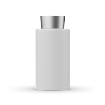 Косметическая бутылка с изолированным макетом крышки