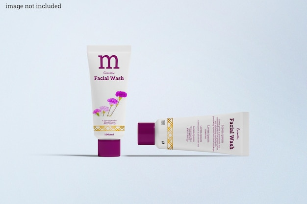 Cosmetic bottles mockup