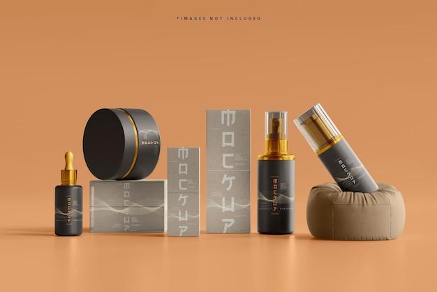 Scena di mockup del marchio cosmetico