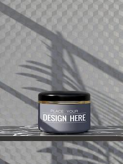 化粧品容器クリーム、ローション、美容液、スキンケアブランクボトル包装用モックアップ