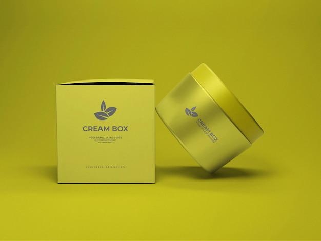 化粧クリームボックスのモックアップ