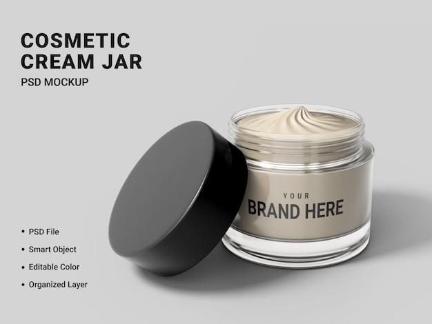 Дизайн макета косметической кремовой банки изолирован