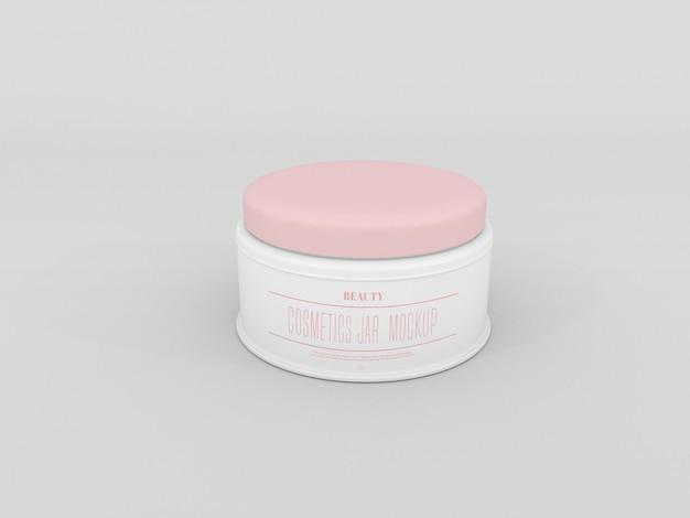 Cosmetic cream jar mockup