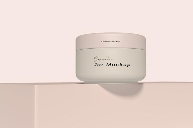 Мокап упаковки косметического крема для ухода за кожей