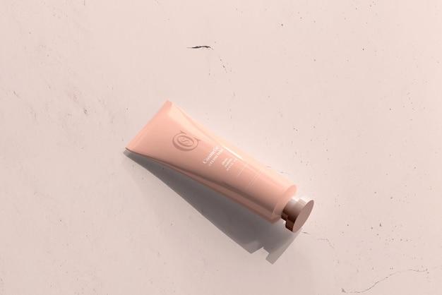 Mockup di tubo crema cosmetica Psd Gratuite