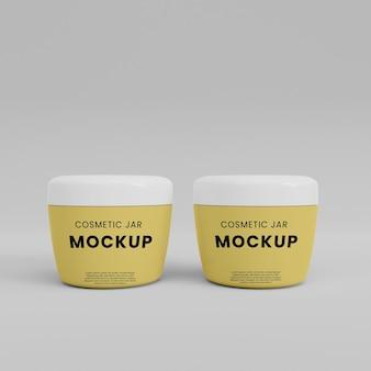 Cosmetic cream tube mockup