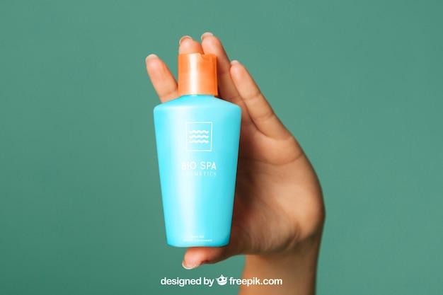 Косметический крем-макет с ручкой