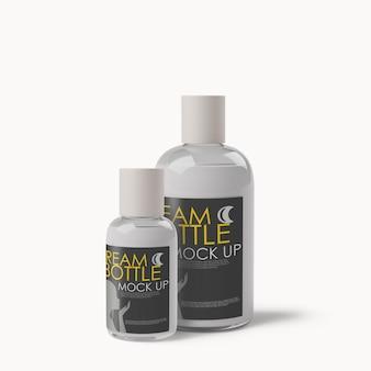 Cosmetic dispenser bottles mockup