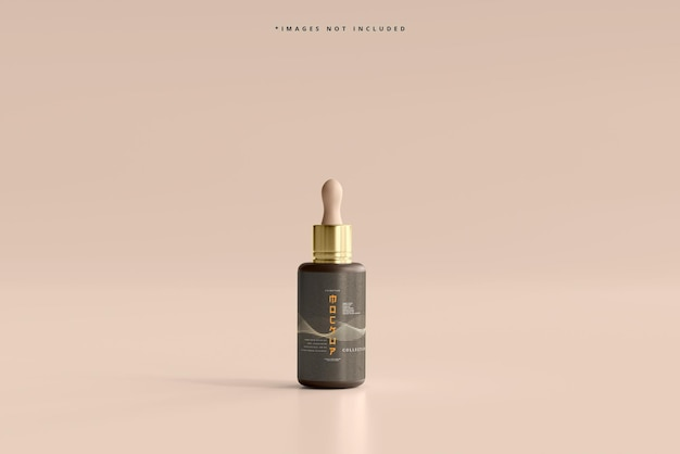 化粧品スポイトボトルモックアップ