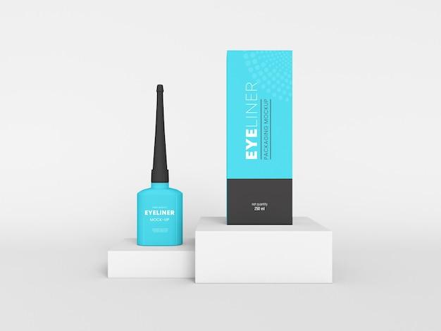 Mockup di packaging per eyeliner cosmetico