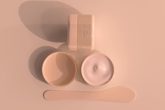 화장품 항아리 모형