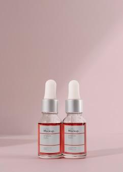 Composizione mock-up contagocce olio cosmetico