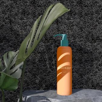 화장품 패키지 디자인 모형. 브랜딩 디자인을위한 포장