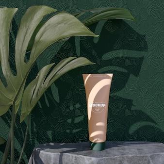 Cosmetic packaging mockup for branding design