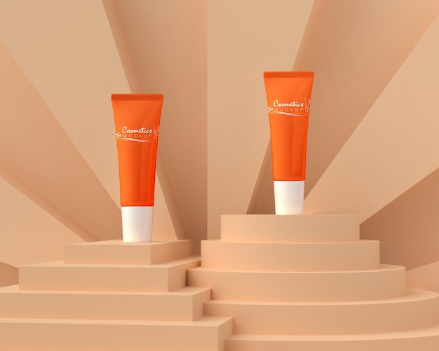 Mockup di packaging cosmetico