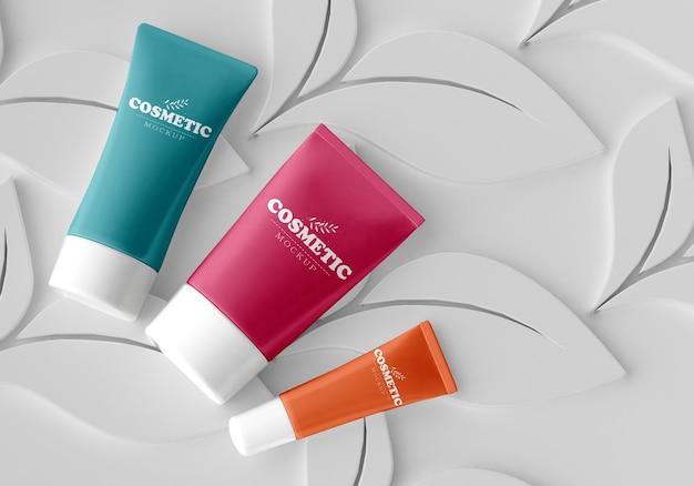Mockup di packaging cosmetico