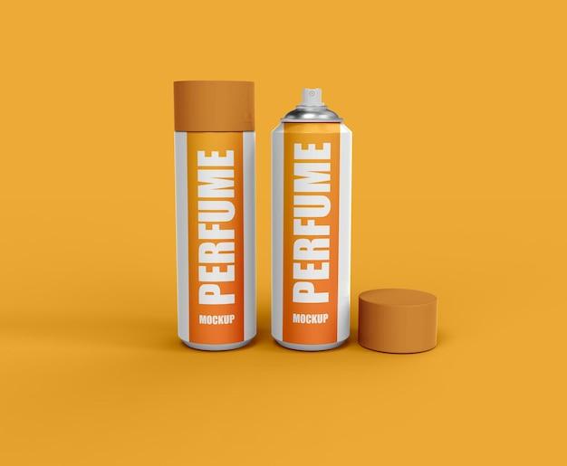 化粧品香水スプレーボトルまたは化粧品ブランドのモックアップ