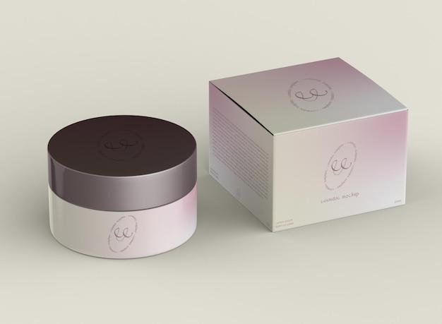 Cosmetic pot mockup