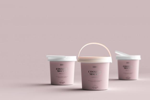 Cosmetic product bucket mockups