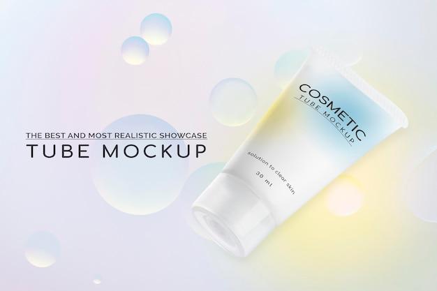 美容とスキンケアのための化粧品モックアップpsd