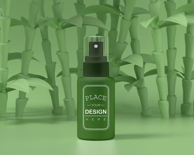 Prodotto cosmetico packaging mockup