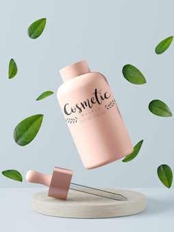 Мокап упаковки косметического продукта