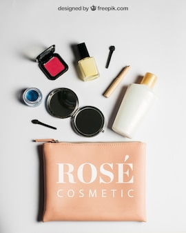Cosmetic products mockup