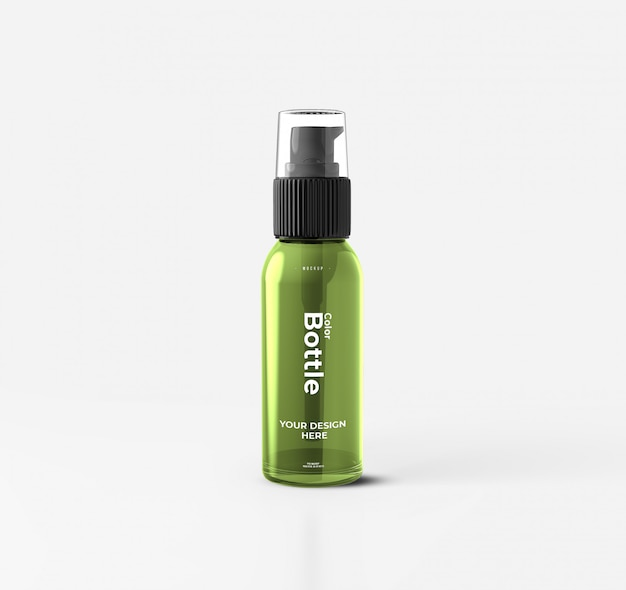 Cosmetic pump bottle mockup