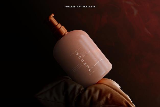 Cosmetic pump bottle mockup