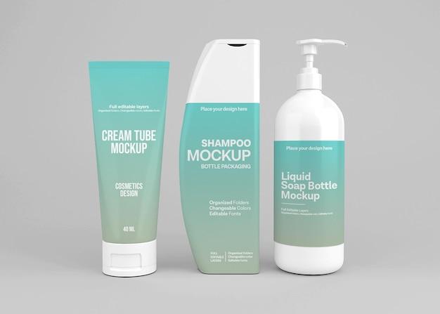 Cosmetic set mockup design