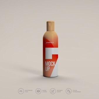 Косметическая бутылка-спрей макет премиум psd