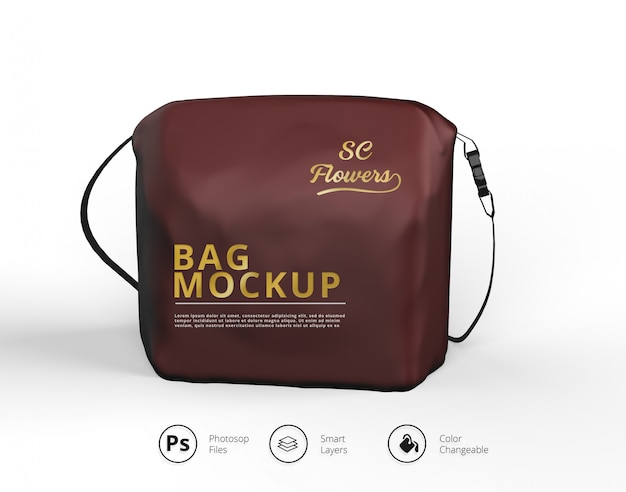 Cosmetic travel case mockup