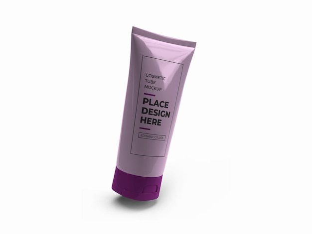 Cosmetic tube bottle mockup design