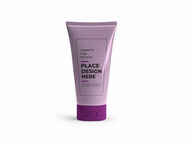 化粧品のチューブボトルのモックアップデザイン